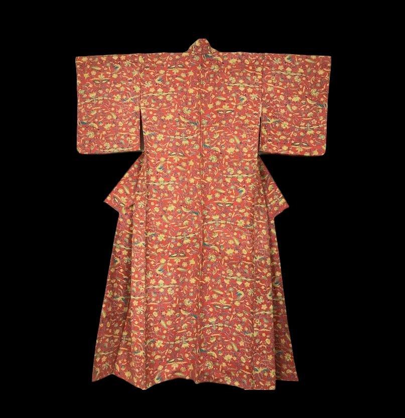 Kimono Tsumugi en soie pour Femme, Japon, 1960, Très bon état
