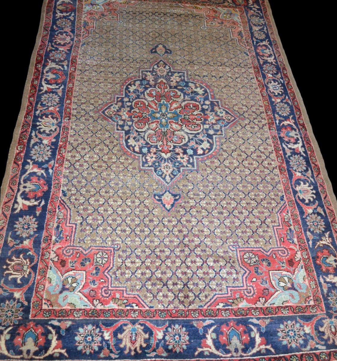 Persian Sarough Rug, 157 Cm X 273 Cm, Iran, Hand Knotted Wool, Perfect Condition, Around 1970