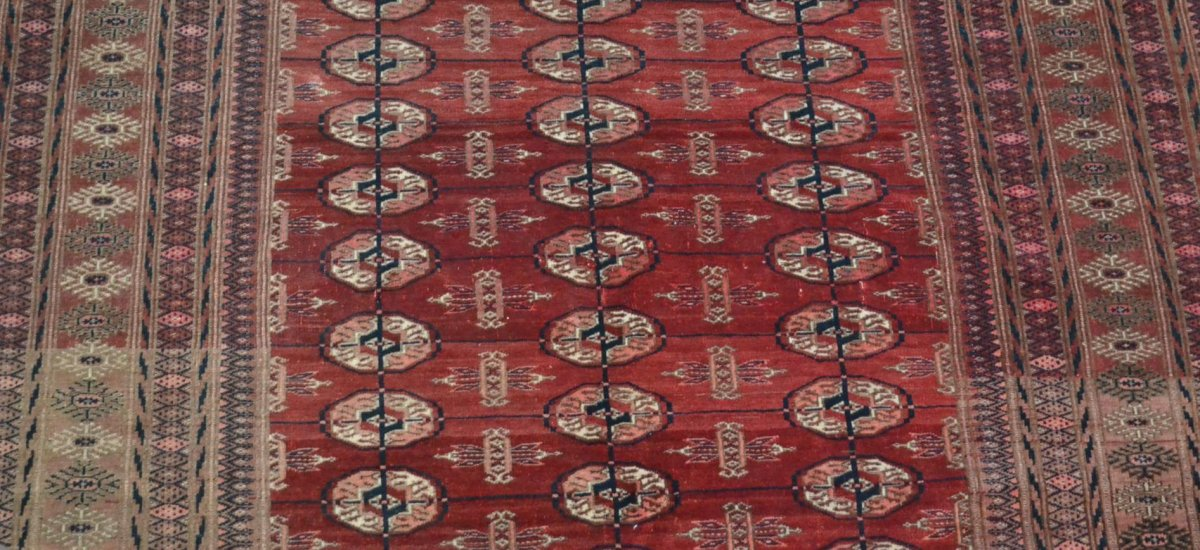 Bukhara-tekke Rug, Central Asia, 133 Cm X 180 Cm, Hand-knotted Wool, Before 1950,-photo-3