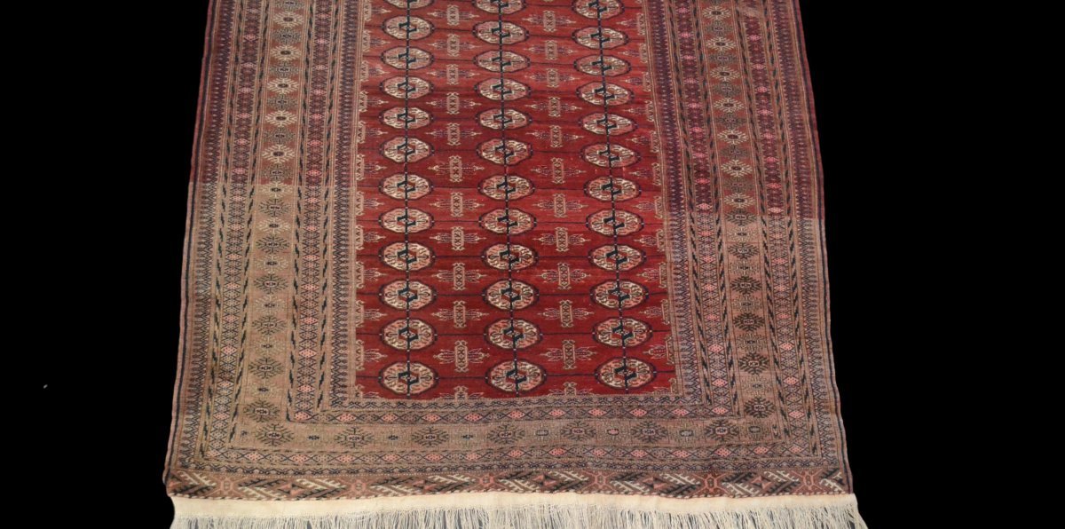Bukhara-tekke Rug, Central Asia, 133 Cm X 180 Cm, Hand-knotted Wool, Before 1950,-photo-4