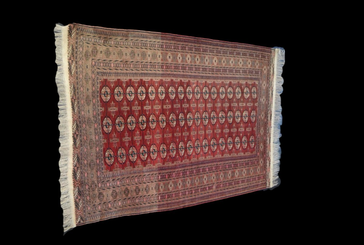 Bukhara-tekke Rug, Central Asia, 133 Cm X 180 Cm, Hand-knotted Wool, Before 1950,-photo-8