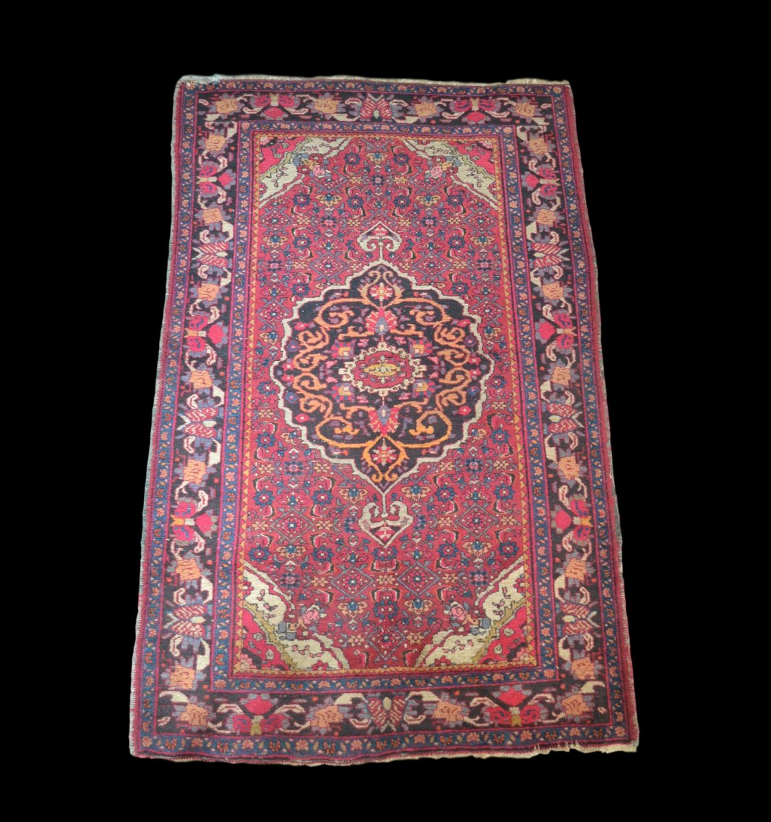 Old Persian Bidjar Rug, 127 Cm X 210 Cm, Iran, Hand-knotted Wool, Early 20th Century