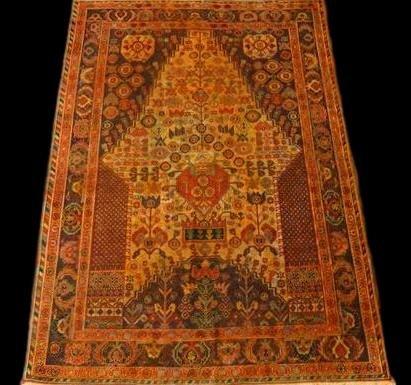 Tapis Persan Yezd, 102 cm x 150 cm, Iran, laine nouée main, vers 1970, Très bel état