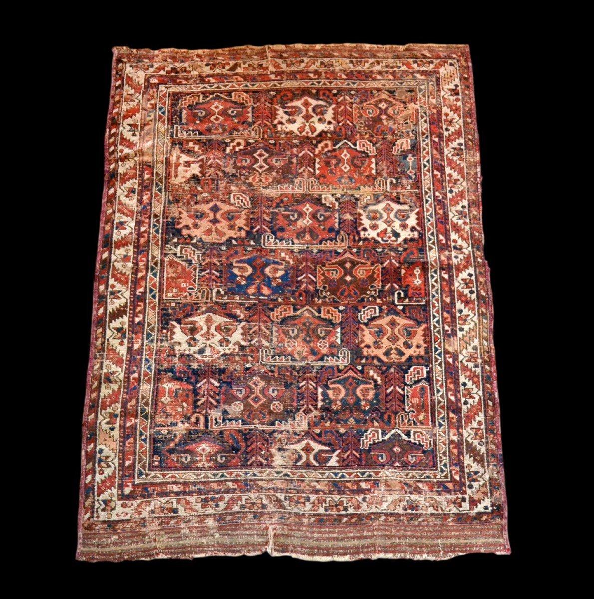 Tapis Persan Bakhtiar ancien, 125 cm x 170 cm, laine nouée main, XIXème siècle