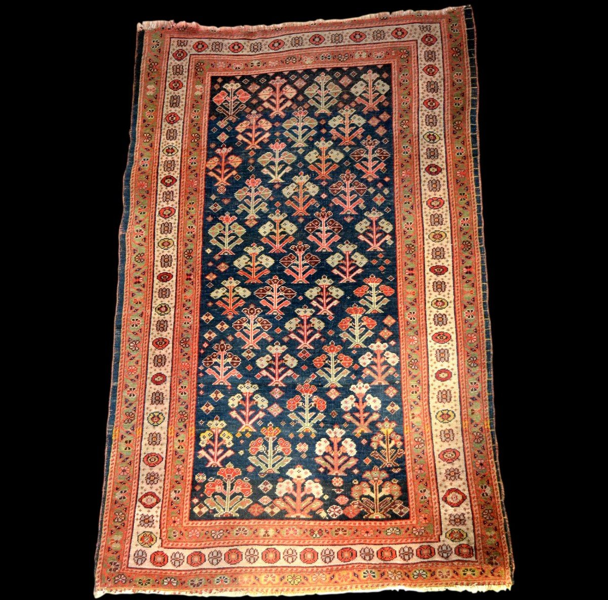 Old Kouba Carpet, Caucasus, 83 Cm X 133 Cm, Wool On Wool, Early 20th Century