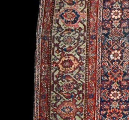 Tapis Persan Feraghan ancien, 131 cm x 185 cm, Iran, XIXème siècle, bel état collection-photo-5