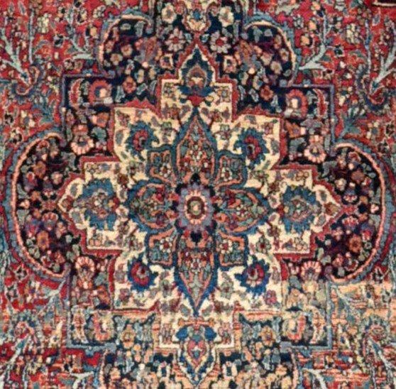 Tapis Persan Ghom ancien, signé, daté, laine et soie, 135 cm x 197 cm, Iran, très bon état-photo-6