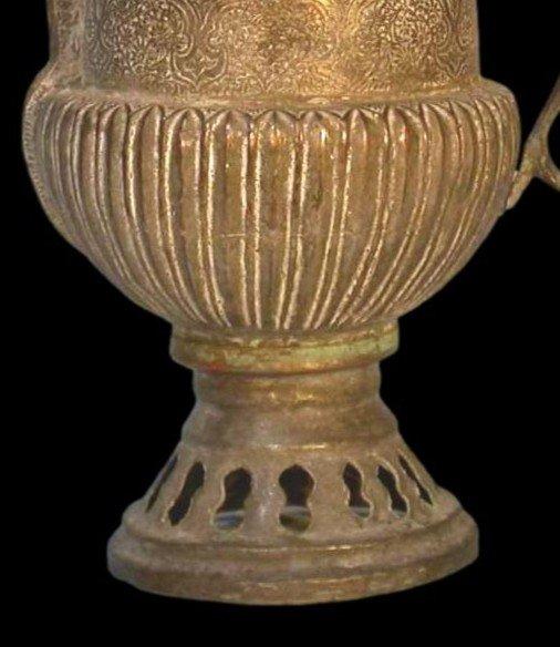 Théière-bouilloire, Perse, Asie centrale, cuivre au repoussé, XIXème siècle-photo-4