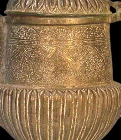 Théière-bouilloire, Perse, Asie centrale, cuivre au repoussé, XIXème siècle-photo-5
