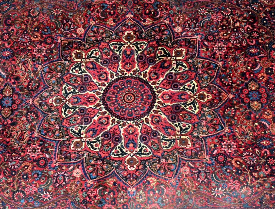 Old Persian Macchad Rug, Signed, 204 Cm X 320 Cm, Iran, Hand-knotted Wool, Good Condition-photo-3