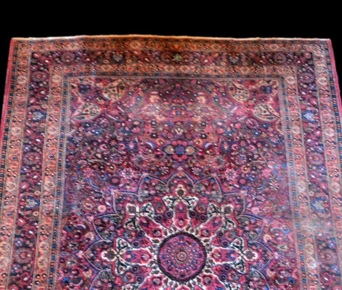 Tapis Persan Macchad ancien, signé, 204 cm x 320 cm, Iran, laine nouée main, bel état-photo-2