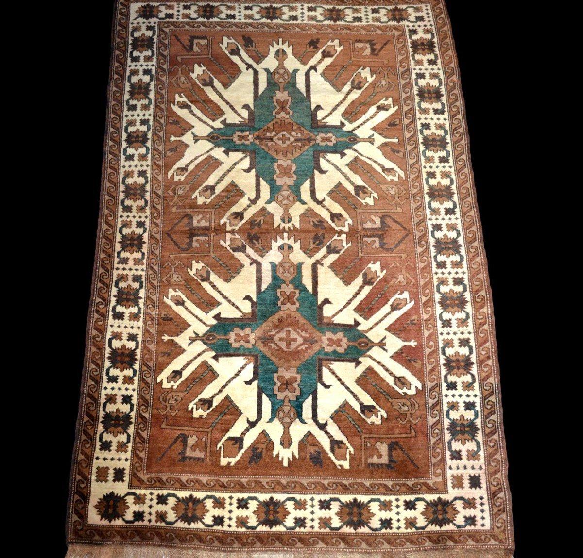 Tapis Chelaberd, Caucase, 157 cm x 242 cm, région du Karabagh, vers 1950/1960, parfait état