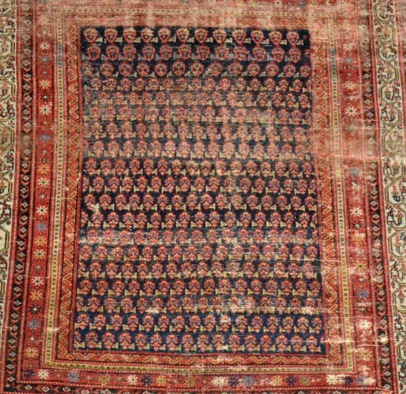 Tapis Afshar ancien, 177 cm x 178 cm, Iran, laine nouée main, fin du XIXème siècle-photo-1