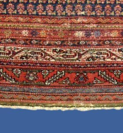 Tapis Afshar ancien, 177 cm x 178 cm, Iran, laine nouée main, fin du XIXème siècle-photo-4
