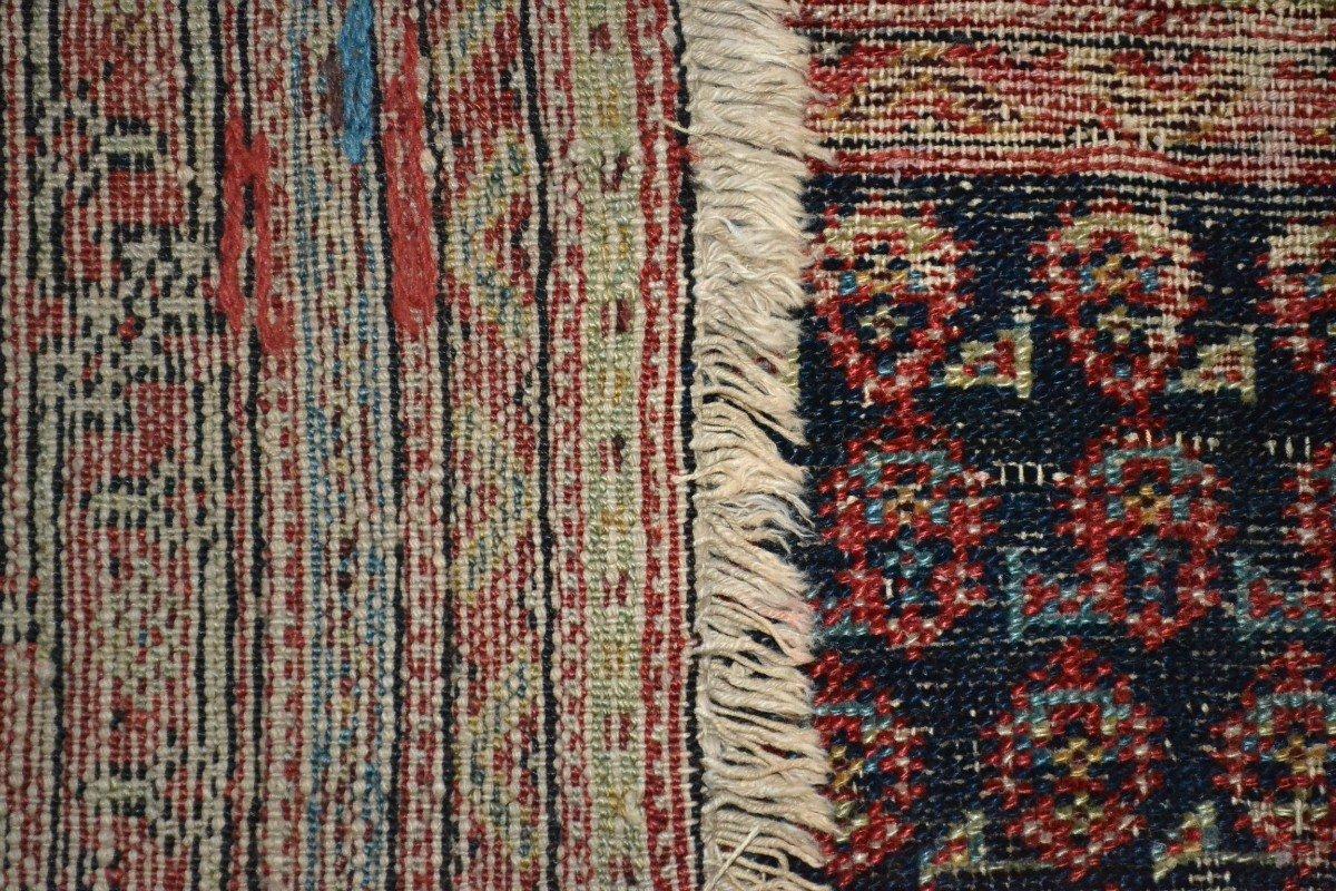 Tapis Afshar ancien, 177 cm x 178 cm, Iran, laine nouée main, fin du XIXème siècle-photo-5