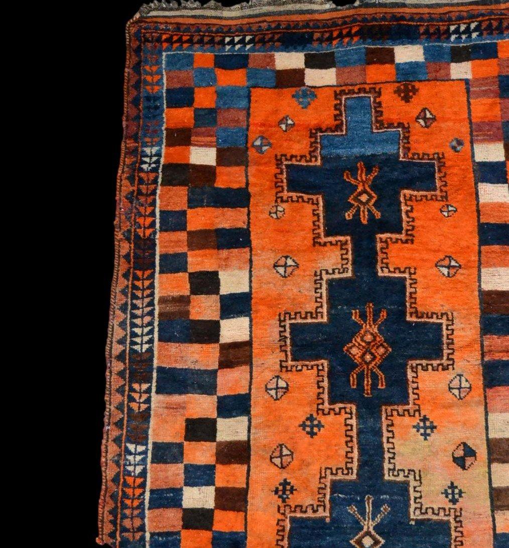 Tapis Gabbeh ancien, Iran, 126 cm x 196 cm, laine nouée main, début du XXème Siècle, rare-photo-3