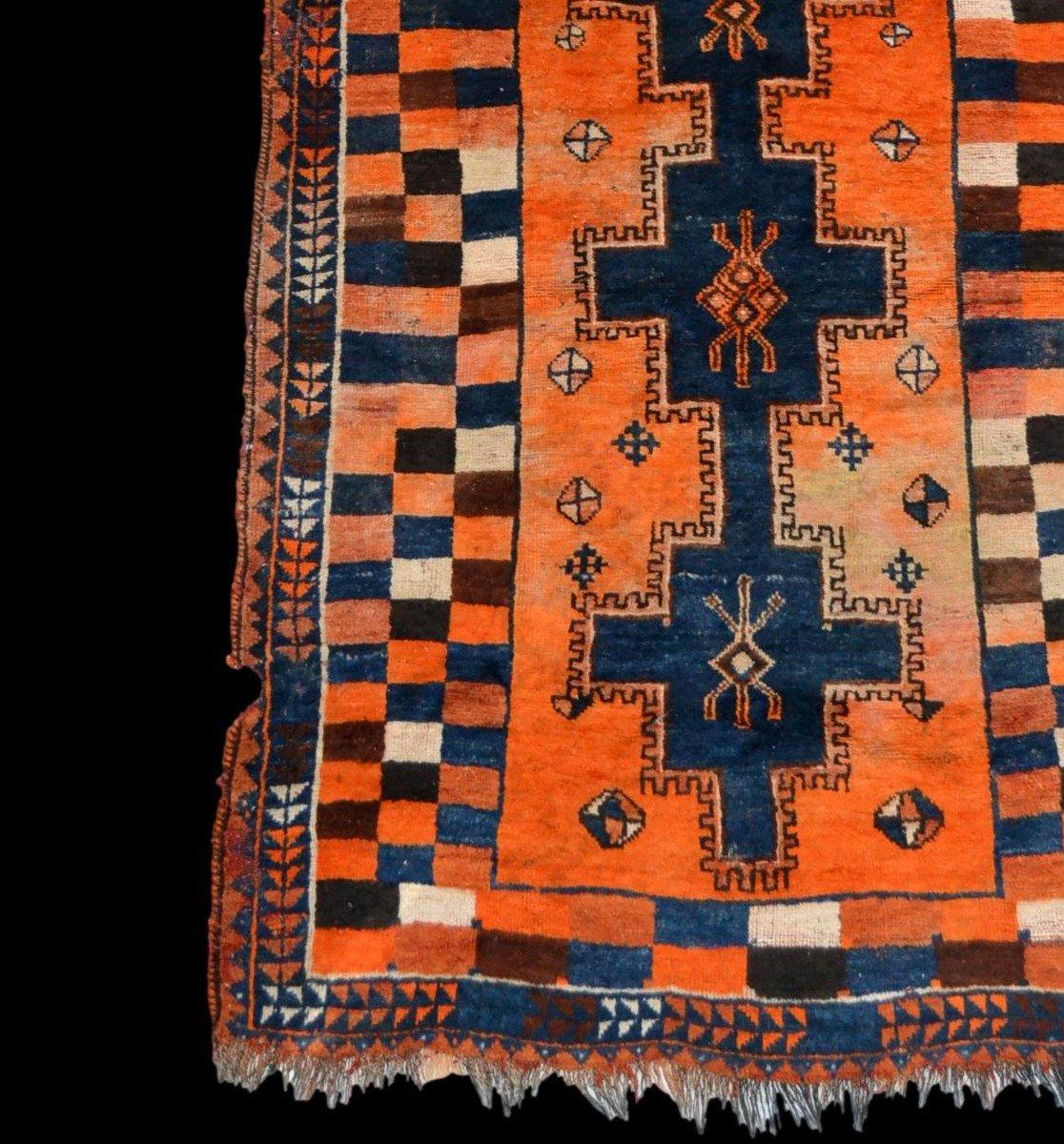Tapis Gabbeh ancien, Iran, 126 cm x 196 cm, laine nouée main, début du XXème Siècle, rare-photo-2