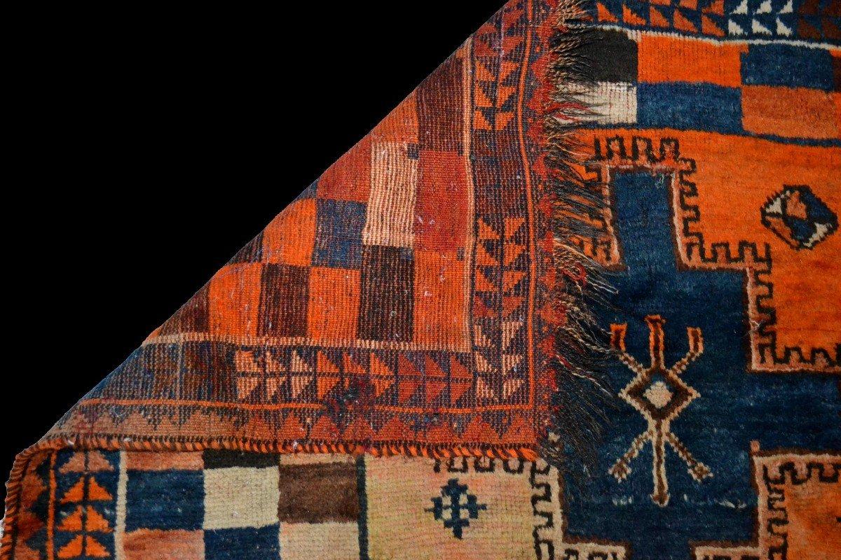 Tapis Gabbeh ancien, Iran, 126 cm x 196 cm, laine nouée main, début du XXème Siècle, rare-photo-4