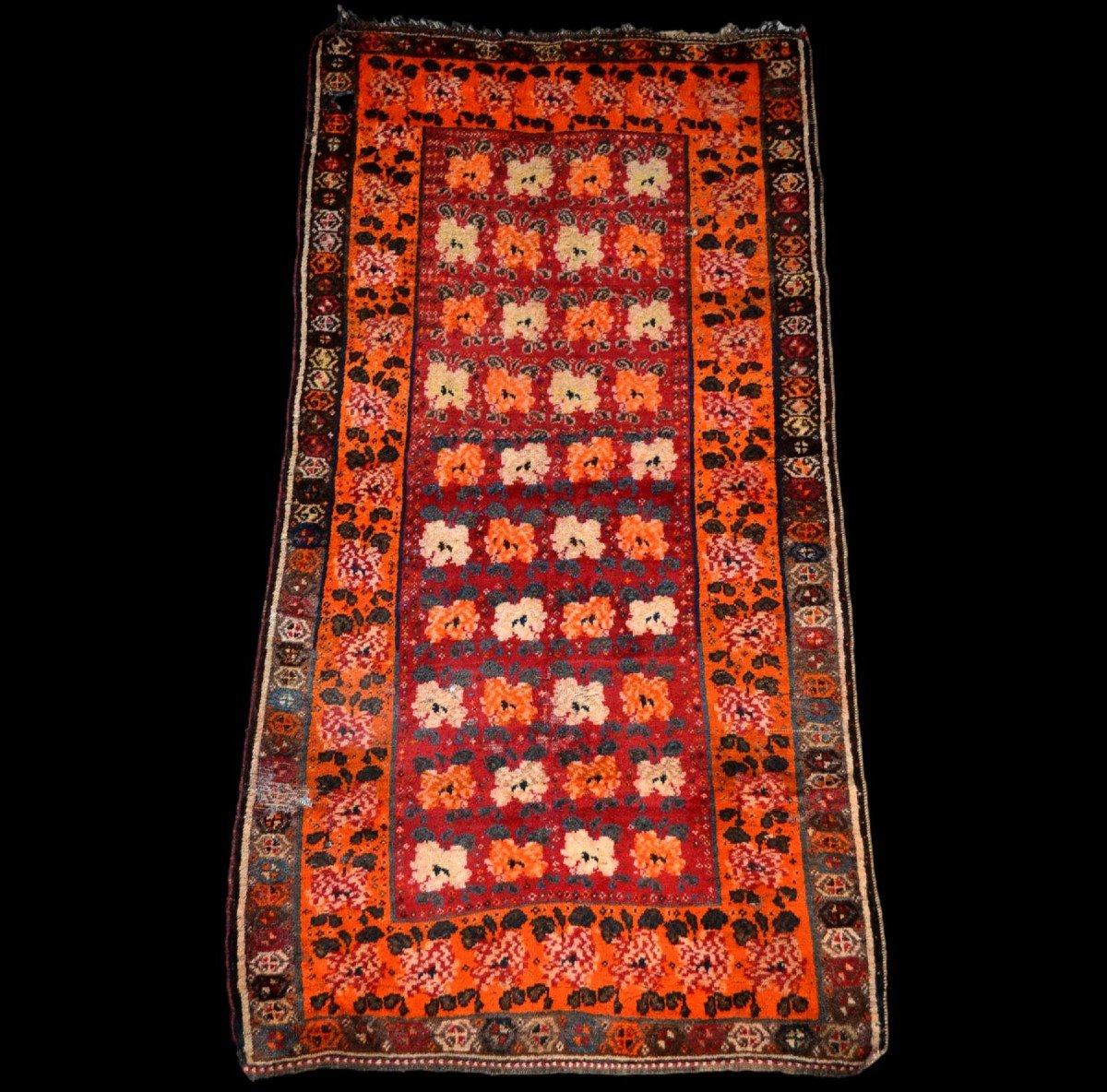 Tapis Gabbeh ancien, Iran, 126 cm x 196 cm, laine nouée main, début du XXème Siècle, rare-photo-7