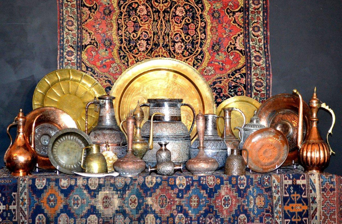 Tapis Gabbeh ancien, Iran, 126 cm x 196 cm, laine nouée main, début du XXème Siècle, rare-photo-8