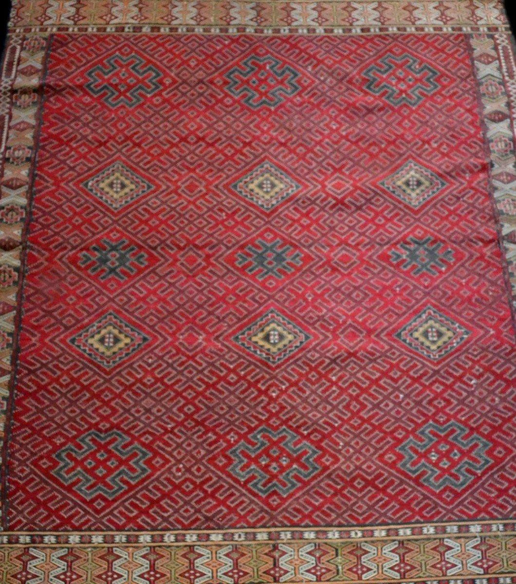 Important Hanbel, tapis ancien, tribu Zemmour, Moyen-Atlas, Maroc, 210 cm x 323 cm, 1950/1960 -photo-1