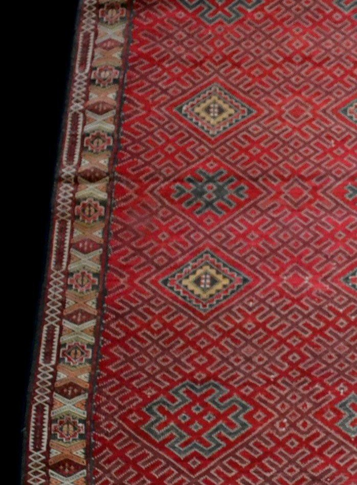 Important Hanbel, tapis ancien, tribu Zemmour, Moyen-Atlas, Maroc, 210 cm x 323 cm, 1950/1960 -photo-2