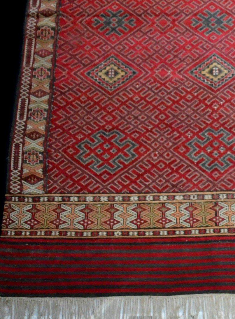 Important Hanbel, tapis ancien, tribu Zemmour, Moyen-Atlas, Maroc, 210 cm x 323 cm, 1950/1960 -photo-4