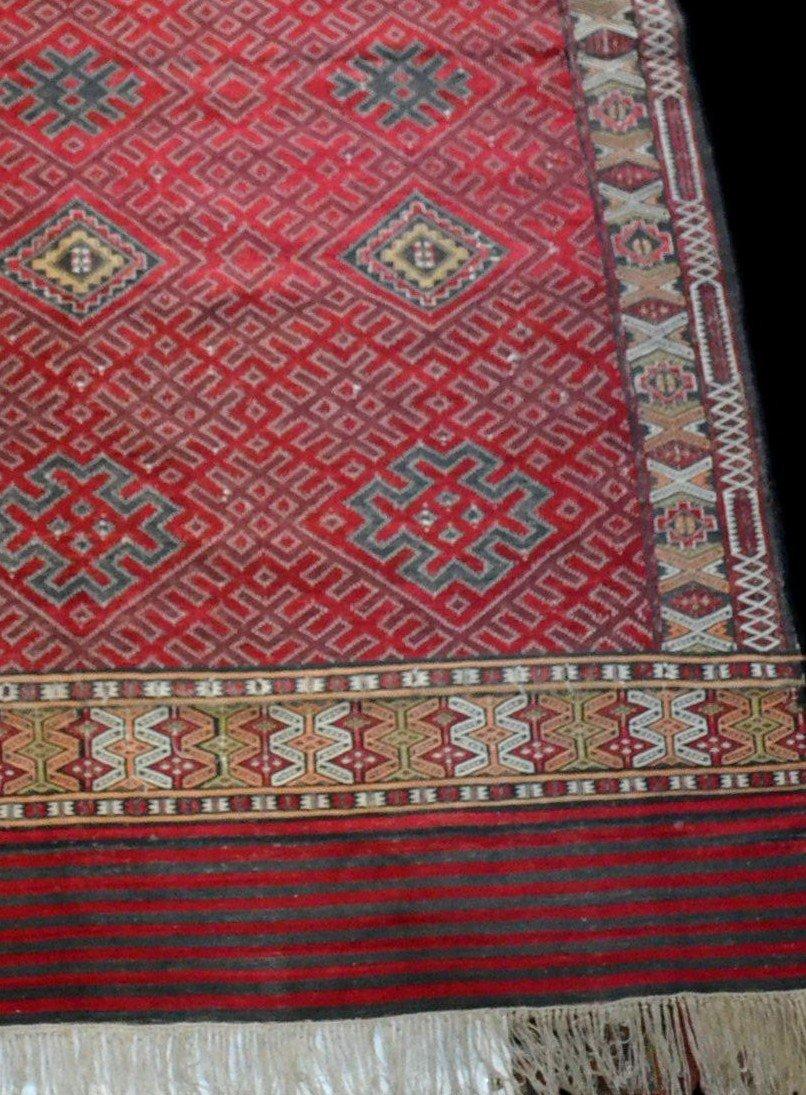 Important Hanbel, tapis ancien, tribu Zemmour, Moyen-Atlas, Maroc, 210 cm x 323 cm, 1950/1960 -photo-5