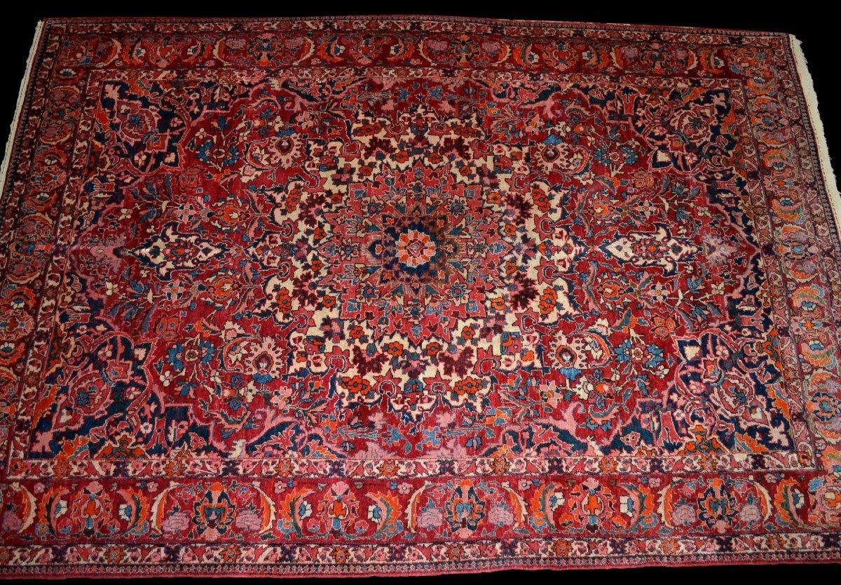 Tapis Persan Bakhtiar, Iran,  214 cm x 313 cm, noué main vers 1970 en très bon état-photo-2