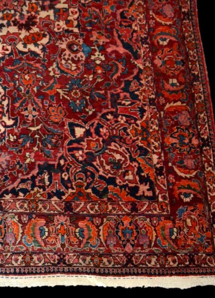 Tapis Persan Bakhtiar, Iran,  214 cm x 313 cm, noué main vers 1970 en très bon état-photo-3