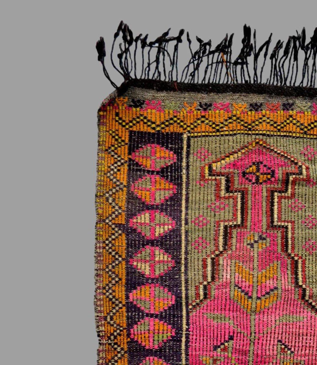 Rare, tapis de prière ancien en crin, 97 cm x 138 cm, Anatolie, Turquie, début XXème, -photo-3