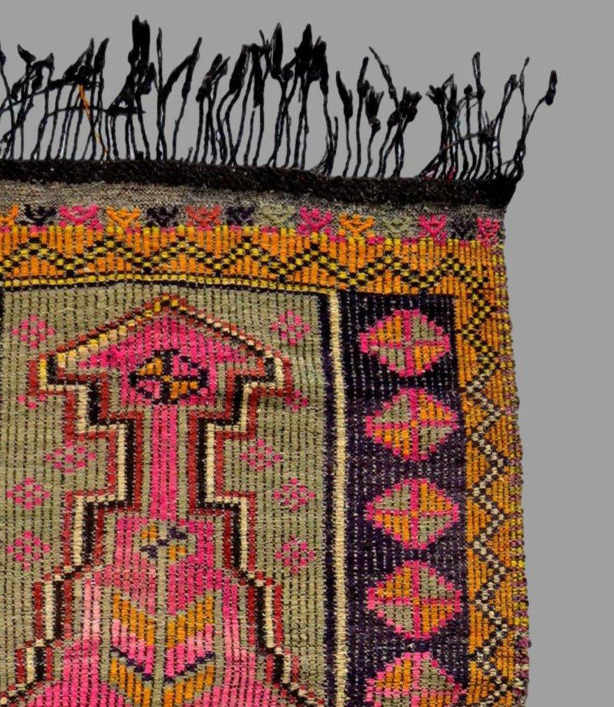 Rare, tapis de prière ancien en crin, 97 cm x 138 cm, Anatolie, Turquie, début XXème, -photo-4