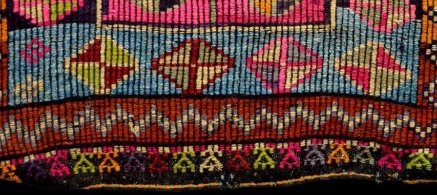 Rare, tapis de prière ancien en crin, 97 cm x 138 cm, Anatolie, Turquie, début XXème, -photo-6