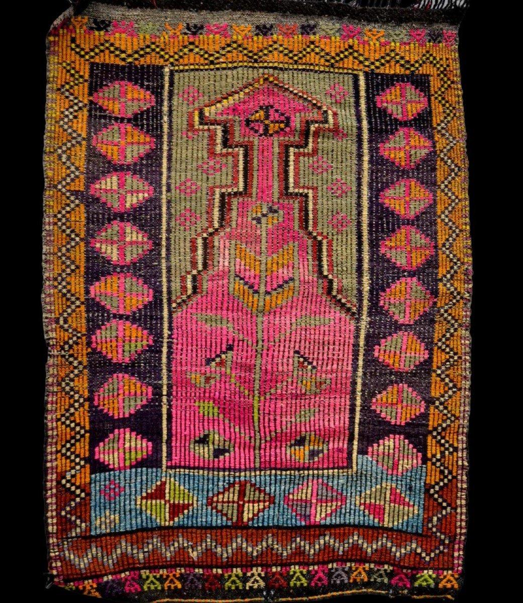 Rare, tapis de prière ancien en crin, 97 cm x 138 cm, Anatolie, Turquie, début XXème,