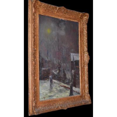 Karel WOUTERS (1892-1965), Neige - huile sur toile ,datée1943