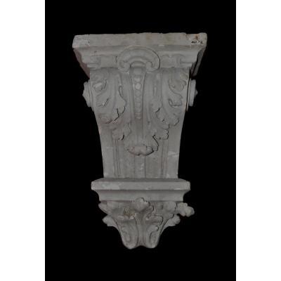 Console En Plâtre - Décors De Feuille d'Acanthe - XIX éme siècle
