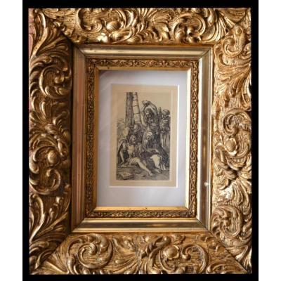 "Albrecht DÜRER, Gravure  "" El Duelo Tras La Crucifixion "", 1910"