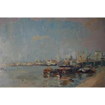 B Steyaert (1909 - ?) - La Rade