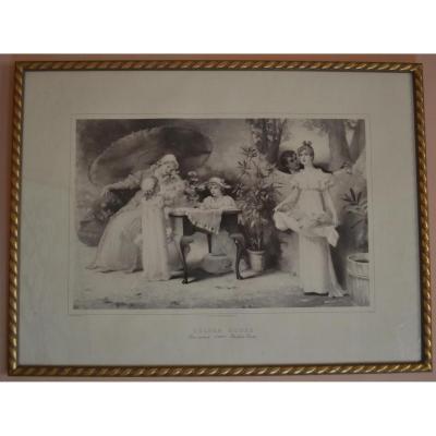 Gravure De 1894 d'Après Un Tableau De Maud Goodman