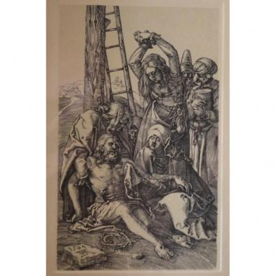 Gravure De Albrecht DÜrer - El Duelo Tras La Crucifixion - Circa 1910