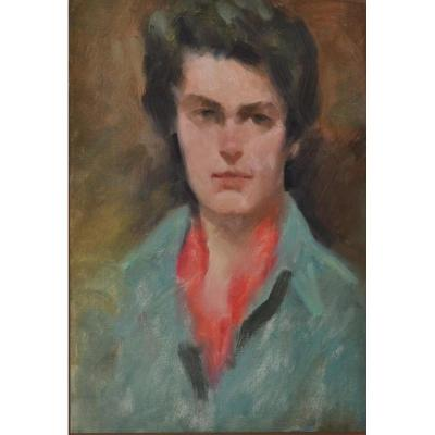 "Dick LUSBY , "" Portrait De Femme ""  USA ,1950 - 1960"