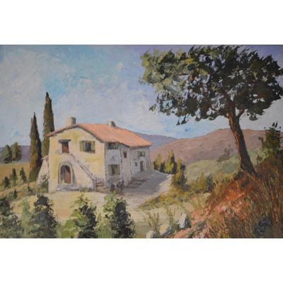 GRI R. - La Maison dans la Garrigue - circa 1970