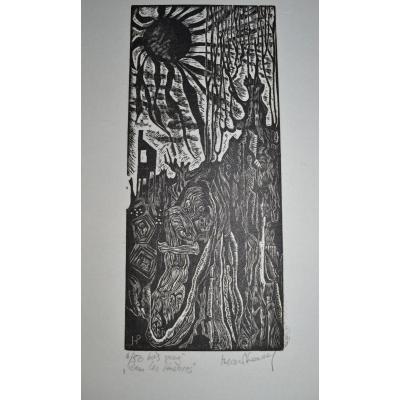 """VAN NORDEN Hilda (1922-2017)-""""Dans les ténèbres""""-circa 1972"""