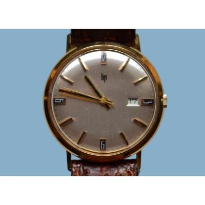 Lip Men's Wristwatch, Gold 18k, Circa 1960