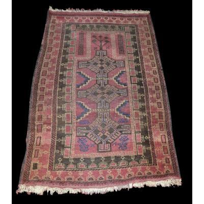 Tapis Baloutche Ancien, 77 cm x 123 cm, Noué Main, Iran, Début Du XXème Siècle