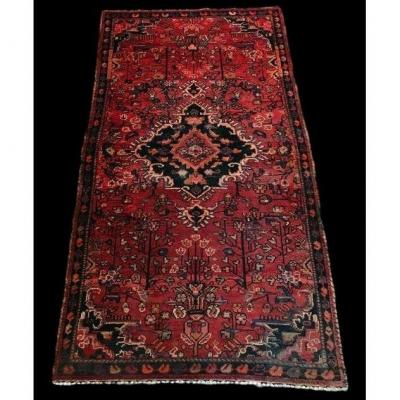 Malay Persian Rug, Iran, 103 Cm X 188 Cm, Hand Knotted, End Of XIXth Century, Very Good Condition