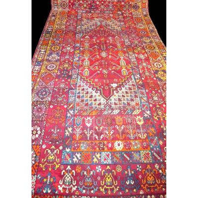 Mosque Ladik Carpet , 205 X  465cm, Anatolia, Turkey, End Of XVIII- Beginning Of XIXth Century