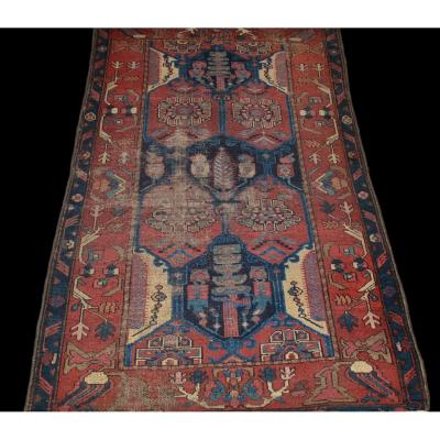 Carpet Chirvan, Caucasus, Azerbaidjan, 100 X 157 Cm, Hand Knotted Wool Before 1920