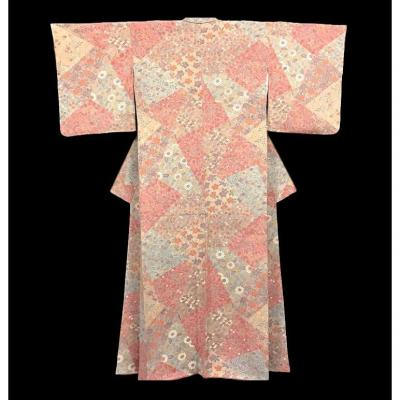 Kimono Hômongi, en soie naturelle, Japon, vers 1960, Très Bon état