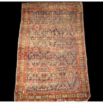 Tapis Persan Feraghan ancien, 129 cm x 186 cm, Iran, fin du XVIIIème siècle, rare